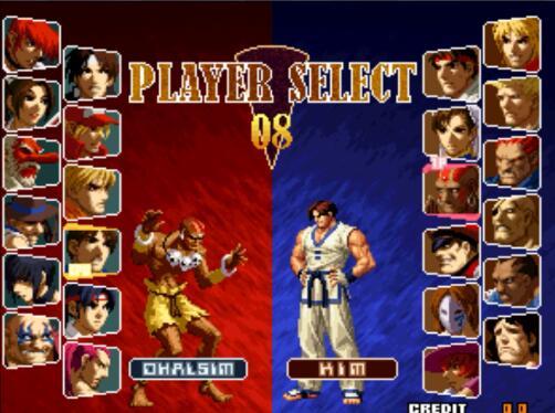 街机《拳皇对卡普空|拳皇VS卡普空》加强版,带中文模拟器